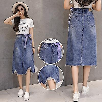 韓版時尚百搭高腰半身裙S-XL-WHATDAY