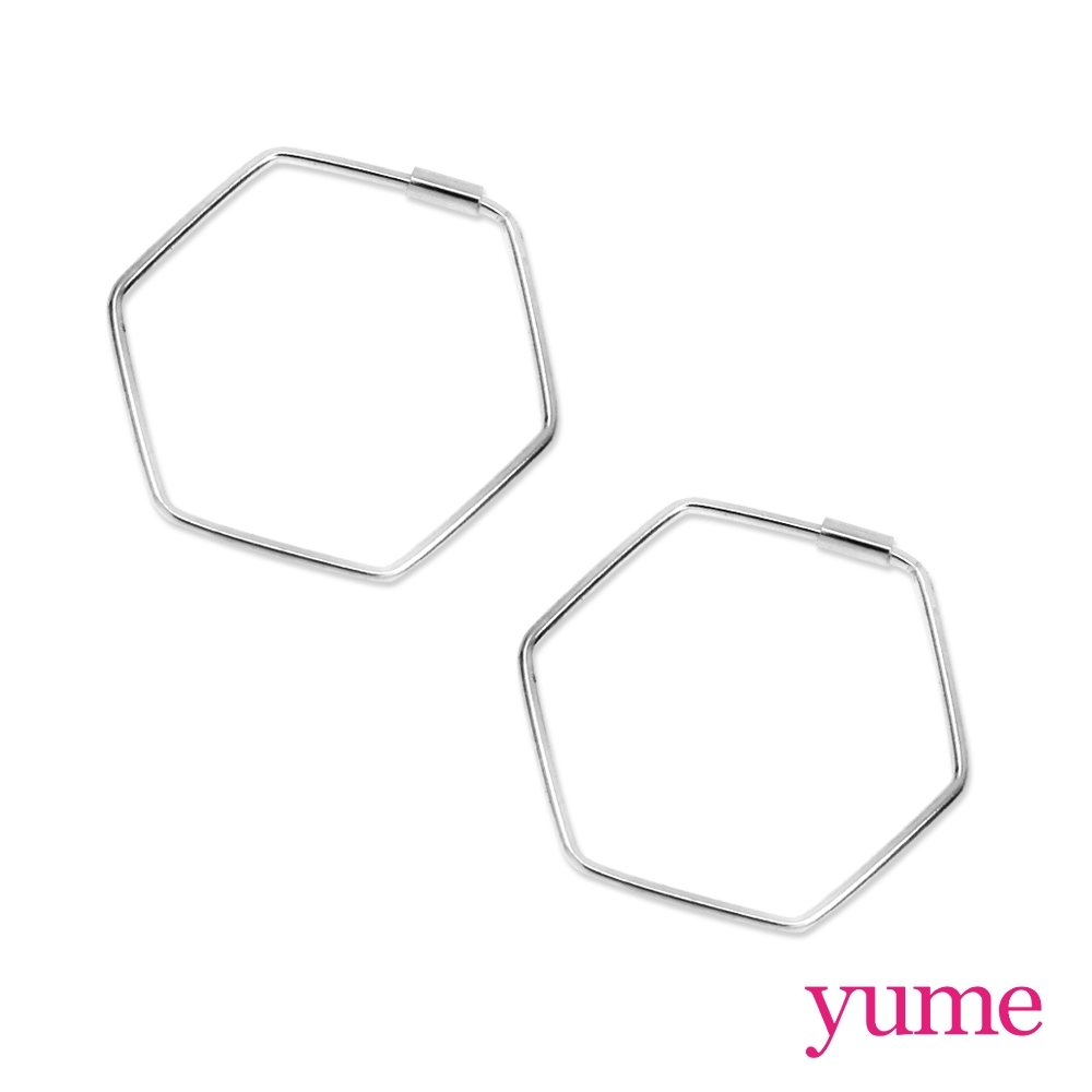 YUME 細六角形線框耳環