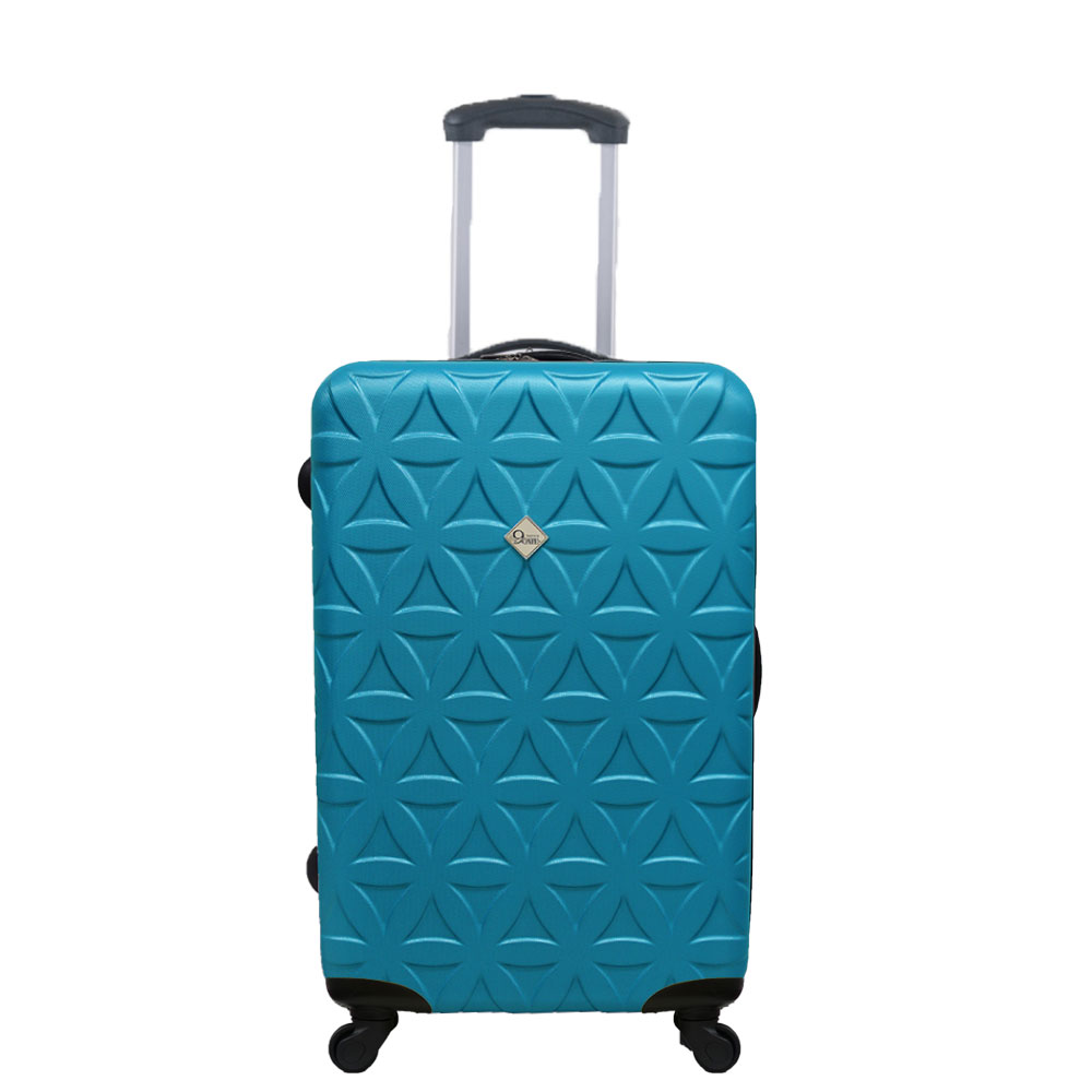 Gate9花花系列/24吋/ABS霧面輕硬殼旅行箱/行李箱-土耳其藍
