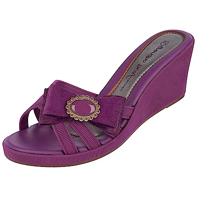 GRENDHA 極致典雅釦飾楔型鞋-紫