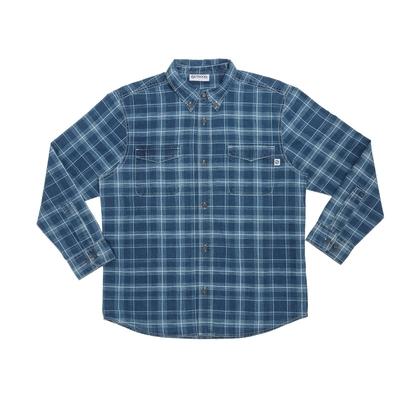 【OUTDOOR】雙口袋長袖襯衫-淺藍格紋 ODP-S02IL (ODCLO)