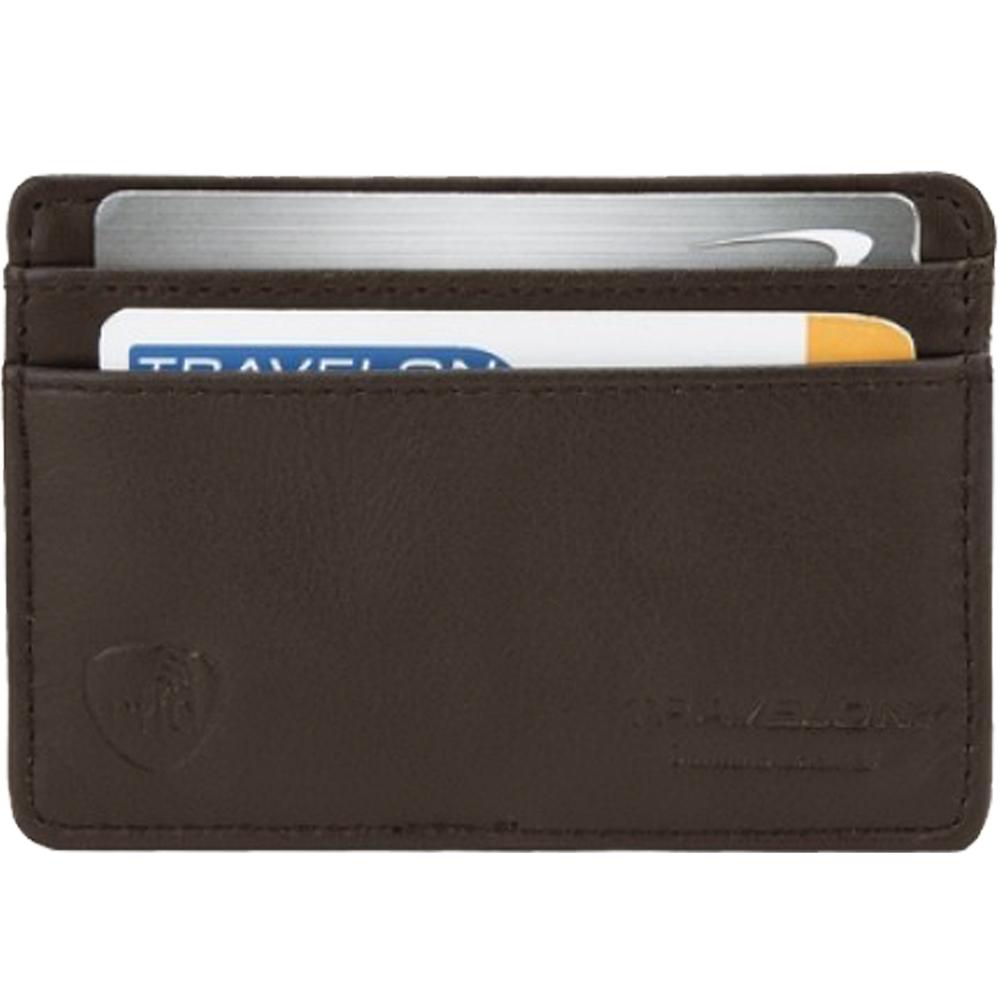 TRAVELON RFID手感證件夾(咖)