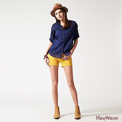 KeyWear奇威名品    時尚休閒棉短褲-土黃色
