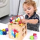 經典木玩 多功能益智串珠百寶箱(兒童教育玩具)(36m+)