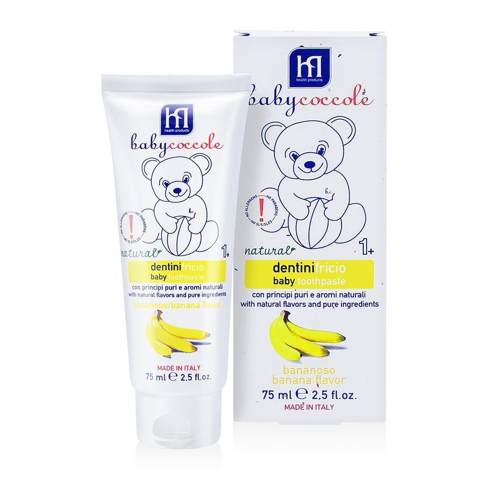 寶貝可可麗 babycoccole 寶貝水果膠牙膏-香蕉口味 (1-3歲適用)