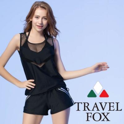 夏之戀TRAVEL FOX大女長版四件式泳衣