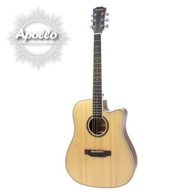 APOLLO A1-DCE 缺角電民謠吉他 原木色款