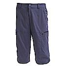 荒野【wildland】男彈性透氣抗UV七分褲藍灰色