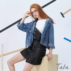 寬鬆渲染短版牛仔外套 TATA-(S/M)