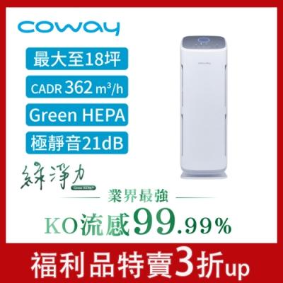 福利品 Coway 18坪 綠淨力立式空氣清淨機 AP-1216L