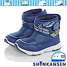 三麗鷗 新幹線童鞋 保暖輕量減壓抗菌防臭高筒童靴-藍