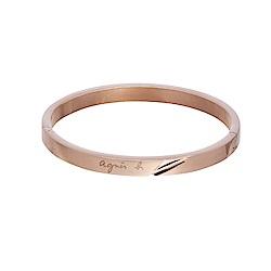 agnes b. 立體切面女性手環(玫瑰金)