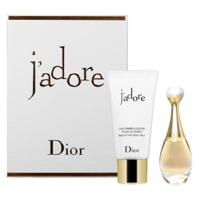 Dior迪奧J adore香氛禮(香氛精巧版5ml+芬芳滋潤身體乳20ml)