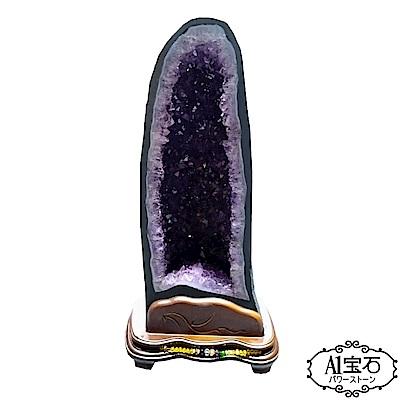 A1寶石 頂級巴西天然紫晶洞同烏拉圭水晶洞功效13kg(贈開運三寶風水五行木座) @ Y!購物