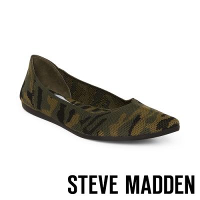 STEVE MADDEN-REVA 潮流時尚彈性面料平底鞋-迷彩