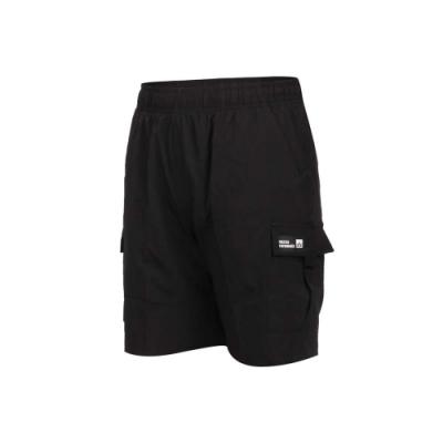 FIRESTAR 女彈性多口袋短褲-慢跑 五分褲 慢跑 運動 平織 CL027-10 黑