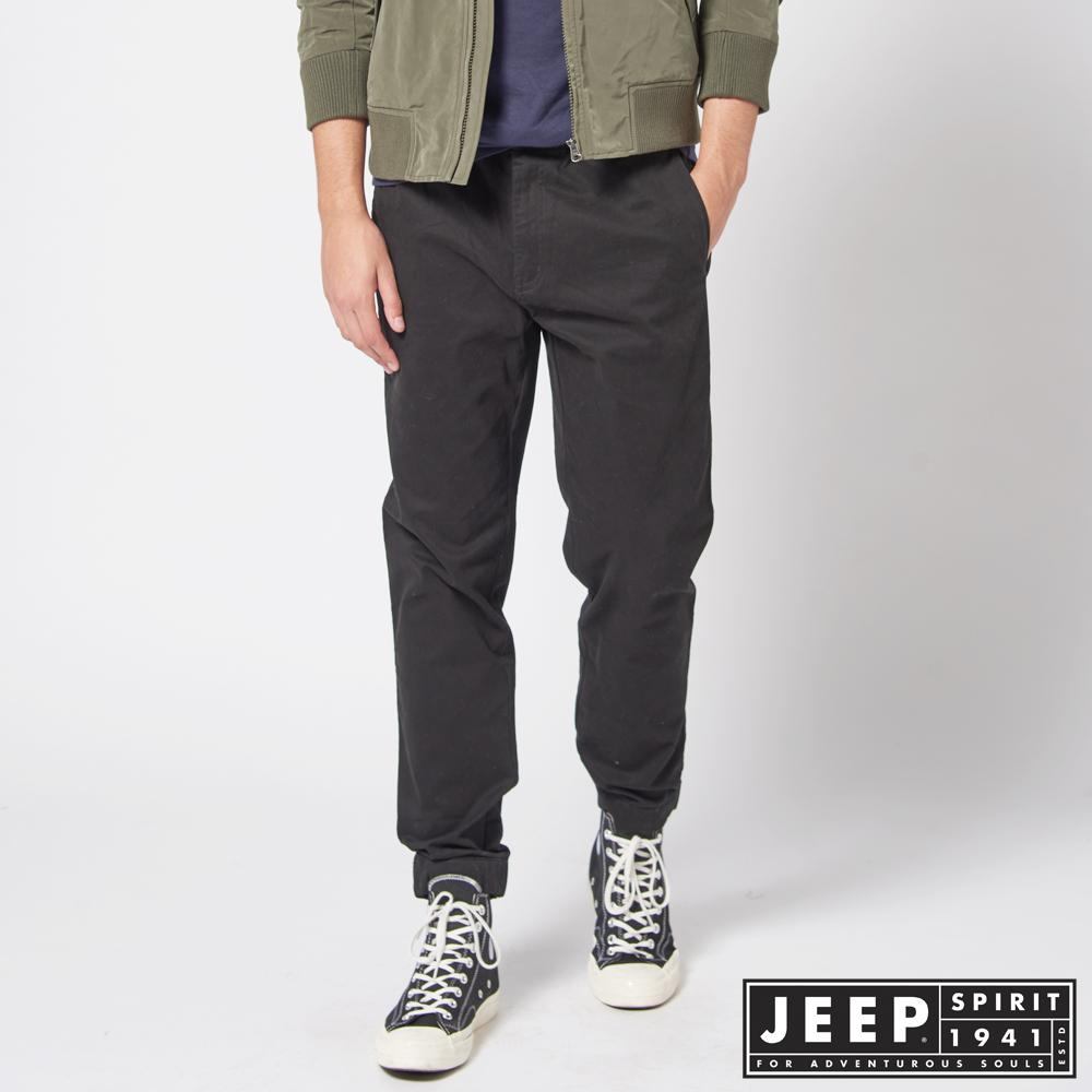 JEEP 經典美式休閒縮口褲 -輪胎黑