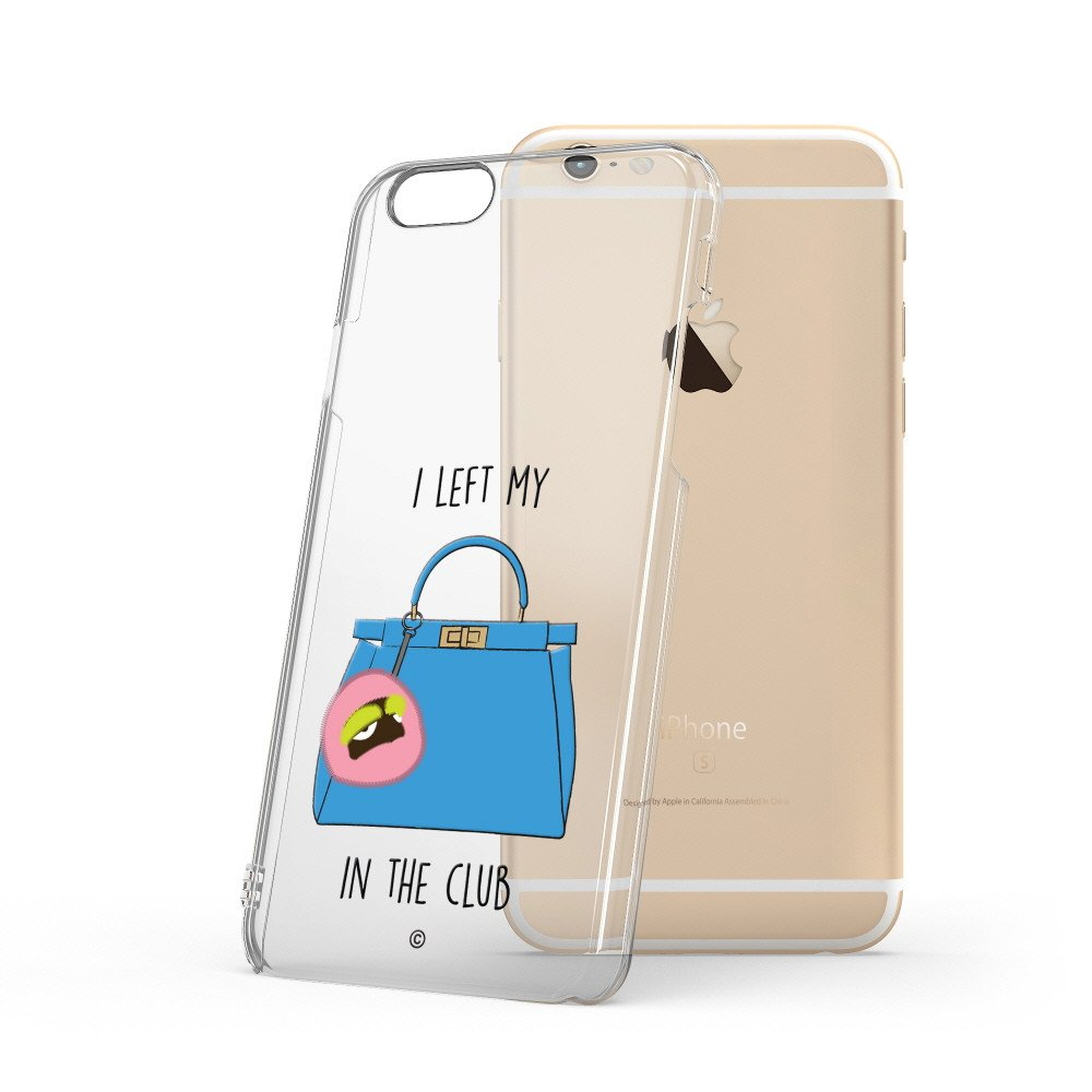 Patchworks 文創設計x名牌包款 iPhone6/6s Plus手機保護殼-天藍