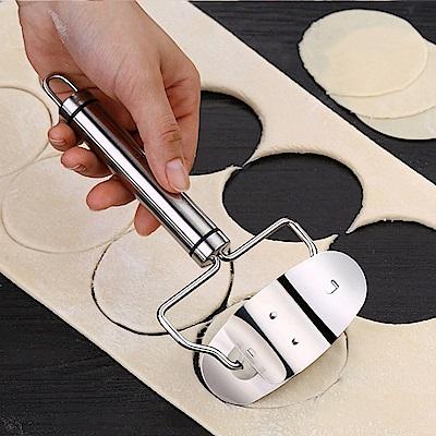 PUSH!餐廚用品 304不鏽鋼圓形手動壓皮器 D130