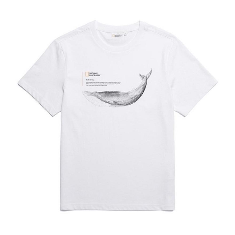 NATIONAL GEOGRAPHIC 中性  SS T-SHIRT 短袖T恤 白色-N192UTS070010