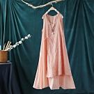 純棉刺繡繫帶中長版無袖背心洋裝-設計所在