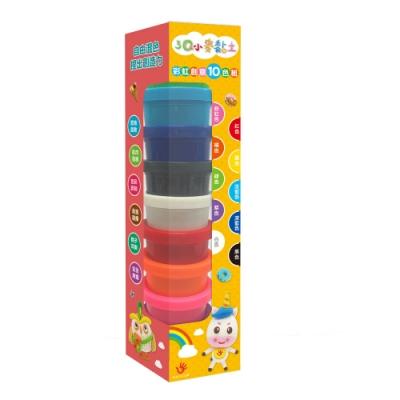 【双美】3Q小麥黏土:彩虹創意10色組