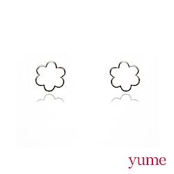 YUME - K金小花線條耳環