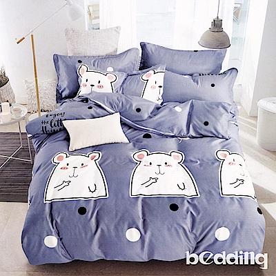 BEDDING-活性印染6尺雙人加大薄床包三件組-萌萌寶