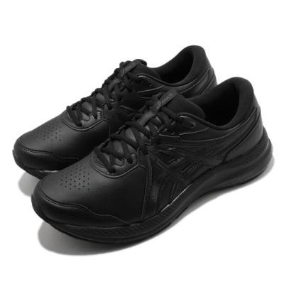 Asics 慢跑鞋 Gel-Contend SL 4E 男鞋 亞瑟士 皮革鞋面 輕量 緩衝 亞瑟膠 黑 1131A050001