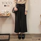 東京著衣-YOCO 氣質俐落打摺設計附綁帶多色西裝寬褲