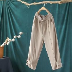 垂感直筒寬鬆百搭七分錐形哈倫褲子-設計所在