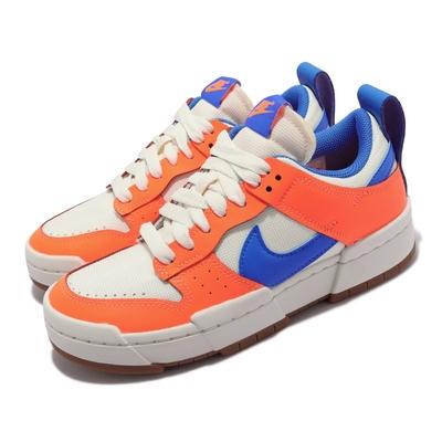 Nike 休閒鞋 Dunk Low Disrupt 女鞋 基本款 解構 質感 舒適 球鞋穿搭 橘 藍 CK6654-104