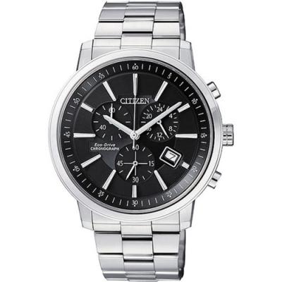 CITIZEN 星辰GENT'S系列都會型男腕錶-黑-41mm(AT0490-54E)