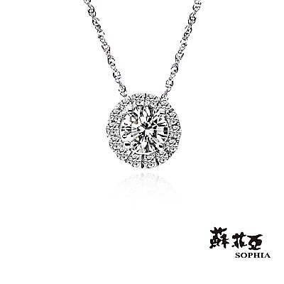 蘇菲亞 SOPHIA - 愛伊蕾拉0.10克拉FVVS1鑽石項鍊
