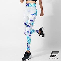 GIAT 類繃分壓躍動機能褲(女款-優雅藍紫)