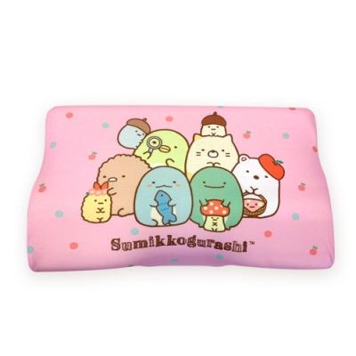 角落小夥伴 慢回彈蝶形護頸枕 記憶枕 兒童枕 釋壓枕 50x30cm(枕套可拆洗)-蘋果園