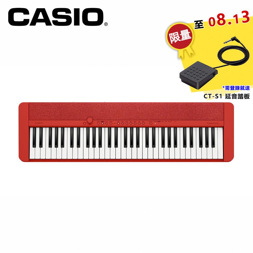 CASIO CT-S1 61鍵電子琴 紅色款