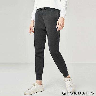 GIORDANO 女裝G-MOTION系列內植絨休閒運動束口褲-06 花紗灰