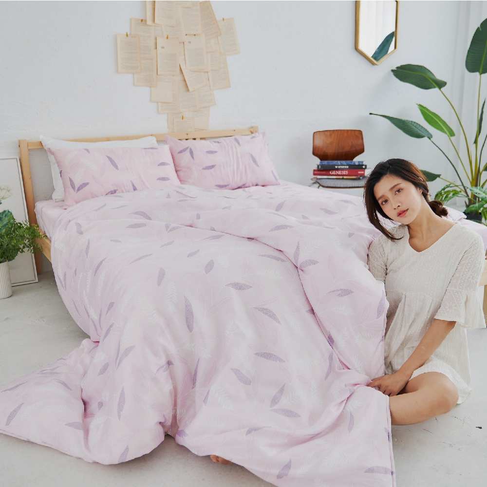 BUHO 100%TENCEL純天絲床包枕套組-雙人加大(多款任選-A)