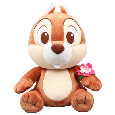 野獸國 迪士尼 30cm 玩偶 2020櫻花季 坐姿手戴花環(共兩款)
