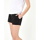 CACO-羅紋配色棉短褲-情侶款(兩色)-女【TAR052】