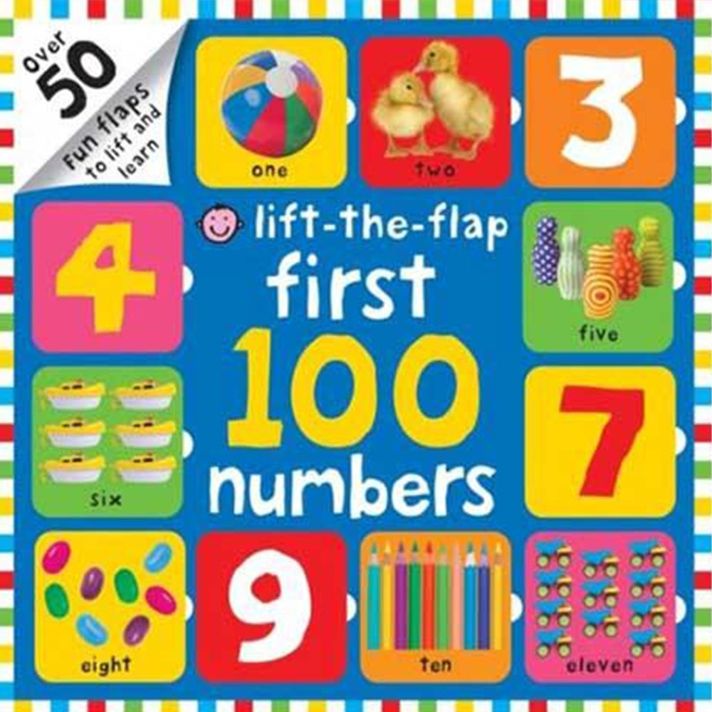 Lift-The-Flap First 100 Numbers 硬頁翻翻操作書(英國版) product image 1