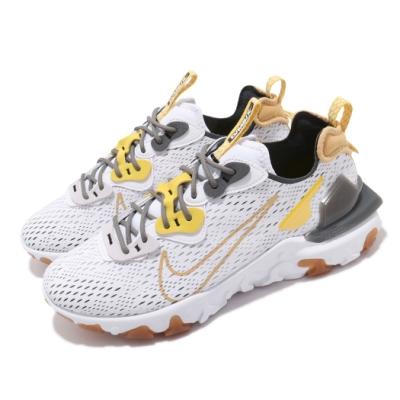 Nike 休閒鞋 React Vision 運動 男鞋 輕量 透氣 舒適 避震 簡約 球鞋穿搭 白 黃 CD4373100