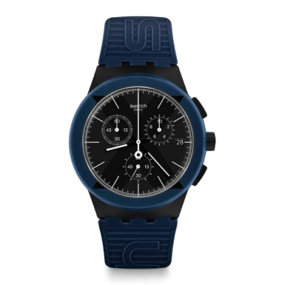 Swatch Bau 包浩斯系列手錶 X-DISTRICT BLUE X本色-藍