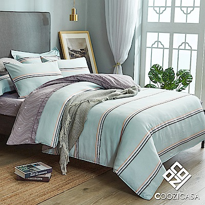 COOZICASA休閒元素 單人四件式吸濕排汗天絲兩用被床包組