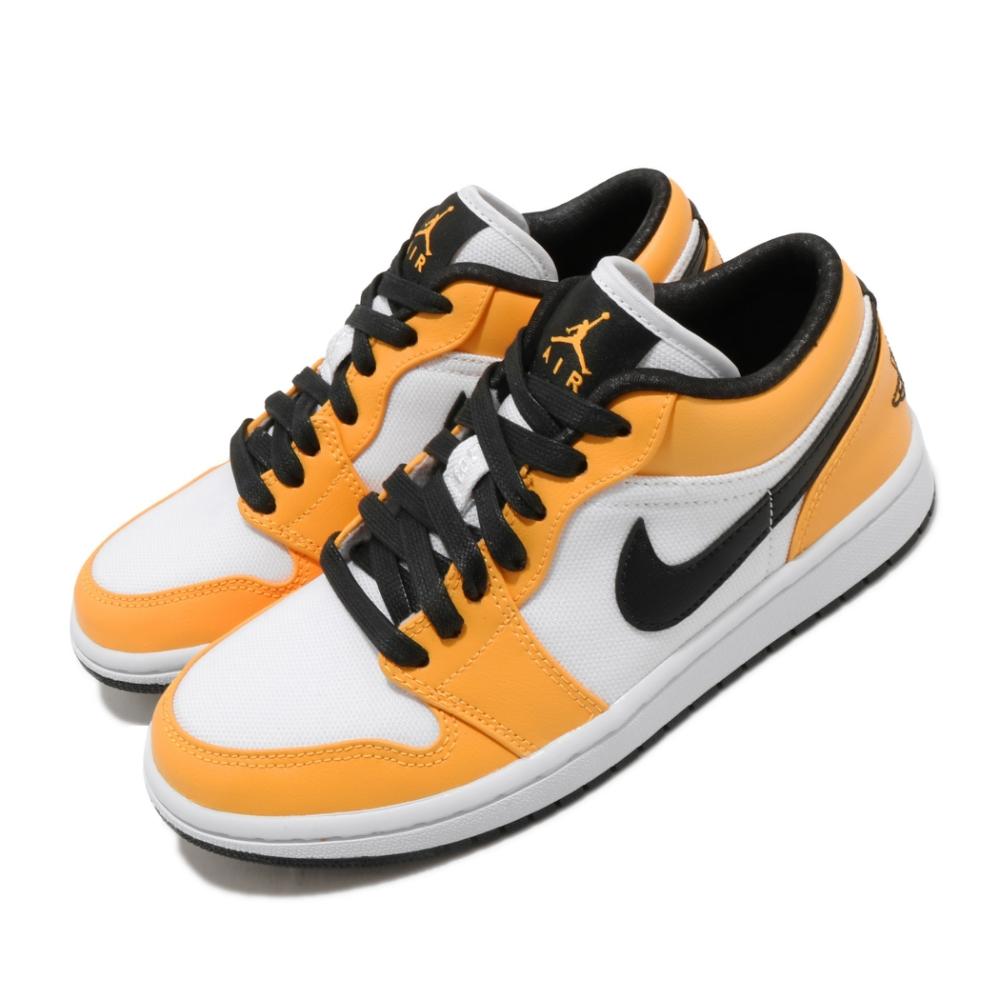 Nike 休閒鞋 Air Jordan 1 Low 男女鞋  經典款 簡約 情侶穿搭 喬丹一代 球鞋 白 黃 CZ4776107