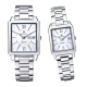 Olympia Star 奧林比亞之星 經典時尚羅馬方型對錶-銀 58065 product thumbnail 1