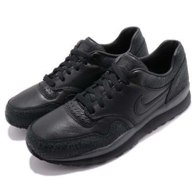 Nike 休閒鞋 Air Safari QS 運動 男鞋 球鞋 特殊紋路 蟾蜍 皮革 復古 穿搭 黑 AO3295002