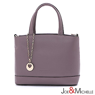 J&M 真皮葛蘿琳經典吊飾包 優雅紫
