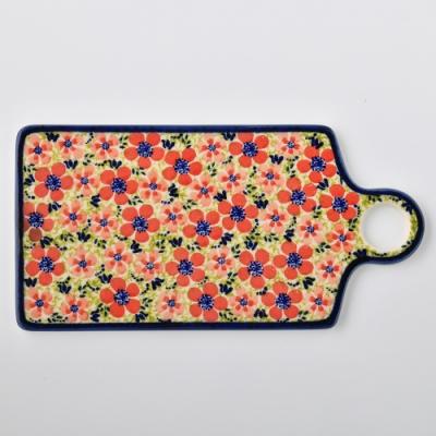 波蘭陶 繁花艷野系列 長方形呈菜盤 14.3x28.5cm 波蘭手工製